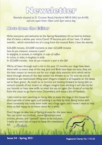 YGH newsletter Spring 21
